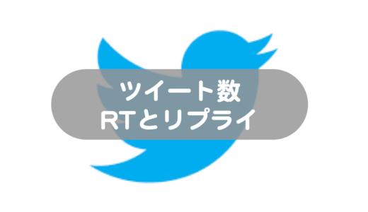 【Twitter】ツイッターの「ツイート数」にはRTやリプライは含まれるのか?